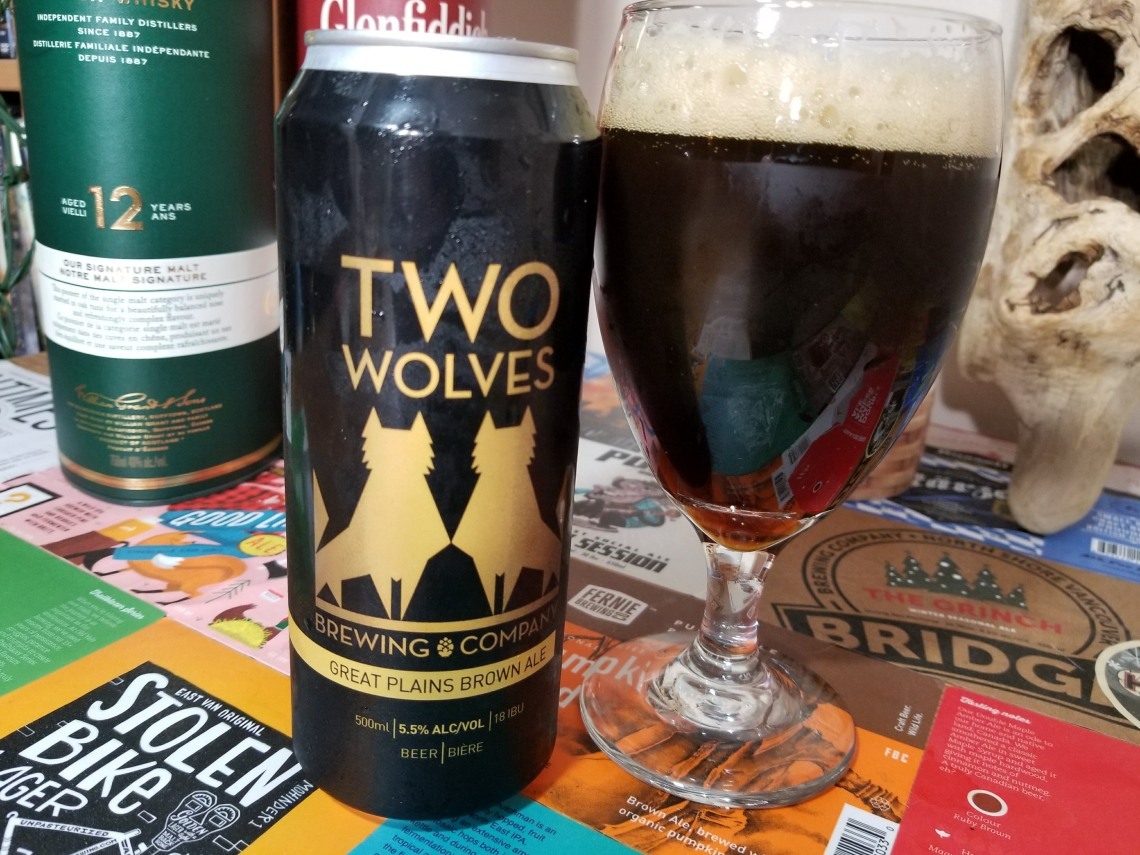 Two Wolves Great Plains Brown Ale